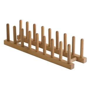Bamboo Plate Rack  sc 1 st  Wayfair : wooden plate rack display - pezcame.com