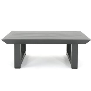 Outdoor Coffee Tables Youll Love Wayfair - Black aluminum outdoor coffee table
