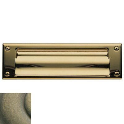Baldwin 10 in x 3 Brass Mail Slot Color: Antique Brass