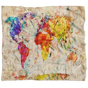 World map blanket wayfair world map watercolor blanket gumiabroncs Images