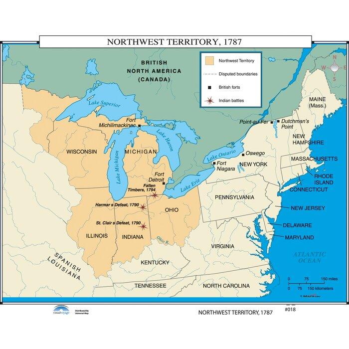 Universal map us history wall maps northwest territory us history wall maps northwest territory gumiabroncs Choice Image