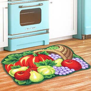 Harvest Kitchen Green/Red Area Rug
