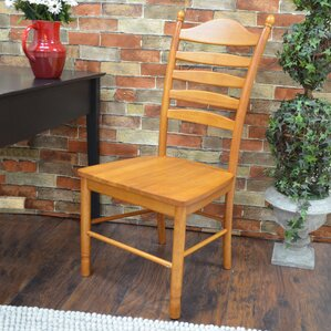 Biermann Solid Wood Dining Chair With Ladder Back