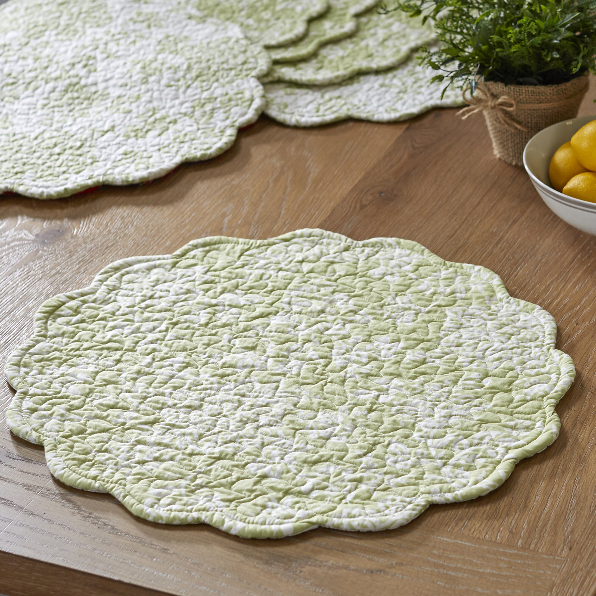 Birch Lane™ Stannis Round Quilted Placemats & Reviews | Wayfair : quilted placemats - Adamdwight.com