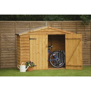 7 ft w x 3 ft d wooden bike shed