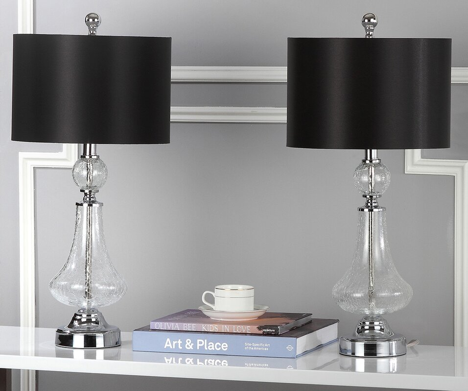 Willa arlo interiors avia crackle 24 table lamp reviews - Willa arlo interiors keeley bar cart ...