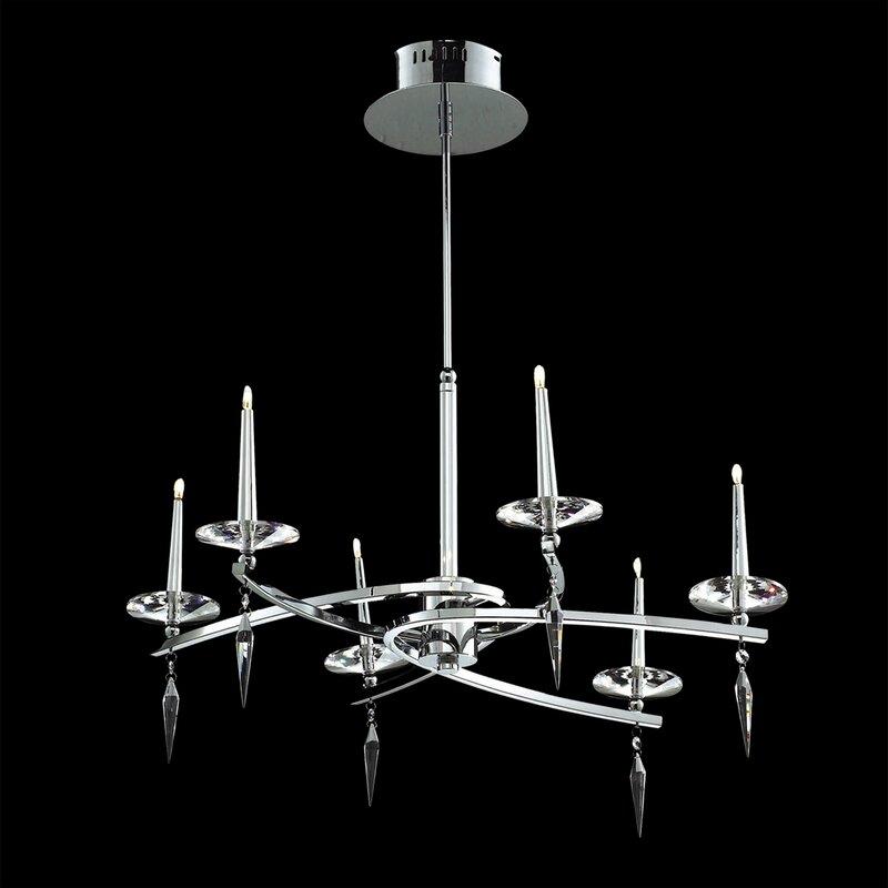 Orren Ellis Hamerton 6-Light Candle Style Chandelier