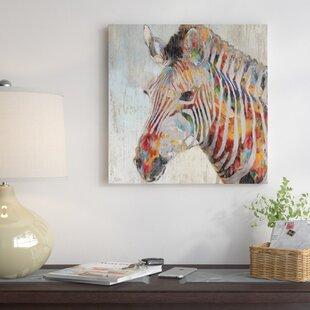 u0027Paint Splash Zebrau0027 Graphic Art Print on Canvas & Print Zebra Wall Art Youu0027ll Love | Wayfair