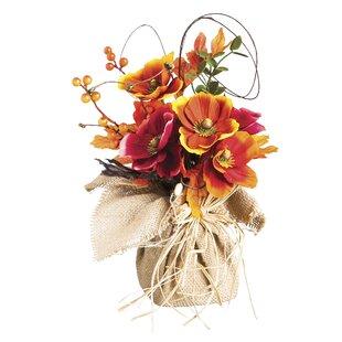 Silk poppy flowers wayfair uri poppy flower tabletop floral mightylinksfo