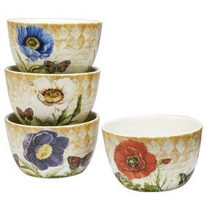 Gautreaux 4 Piece Dessert Bowl Set