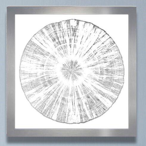 Mercury Row Cuore Legno Silver Framed Graphic Art | Wayfair