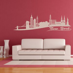 New York Skyline Wall Decal Part 96