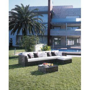 Soho 6 Piece Sunbrella Sectional Set With Cushions