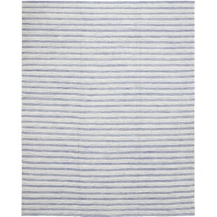 Find One-of-a-Kind Cullerton Hand-Knotted Wool Blue Indoor Area Rug By Isabelline