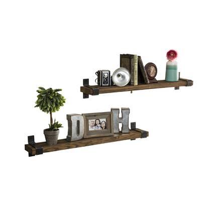 85c8de59be478 Jeterson Industrial Grace Wall Shelf (Set of 2)