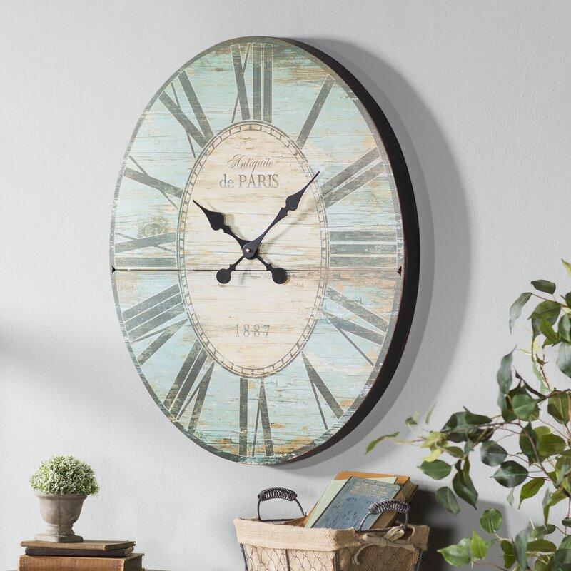 oversized oval wall clock