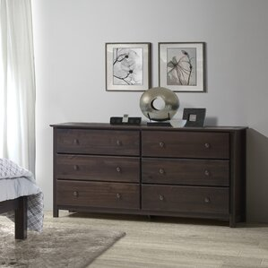 Shaker 6 Drawer Dresser by Grain Wood Furniture
