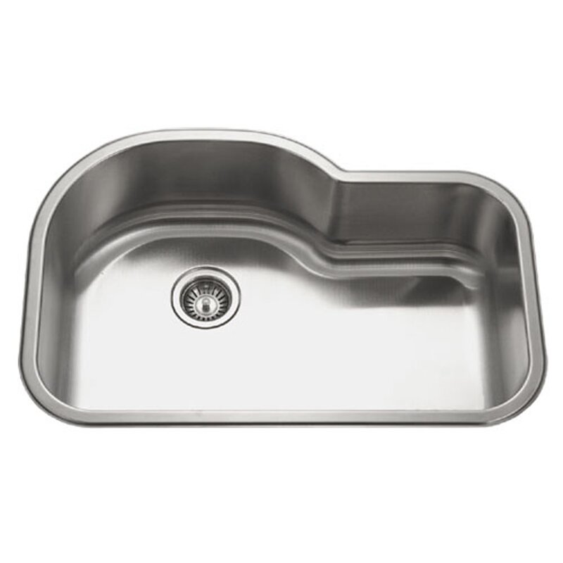 medallion designer 31 5   x 17 94   21   undermount offset single bowl kitchen sink houzer medallion designer 31 5   x 17 94   21   undermount offset      rh   wayfair com