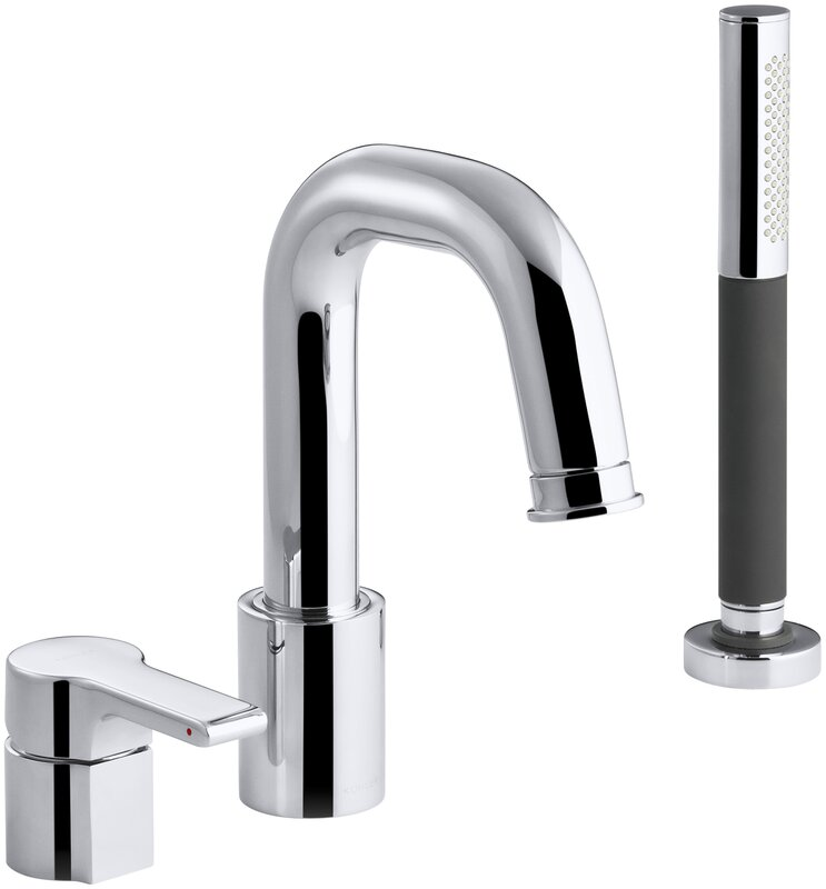 kohler roman tub faucet with hand shower. Singulier Deck Mount Bath Filler with Handshower K 10873 4 CP Kohler