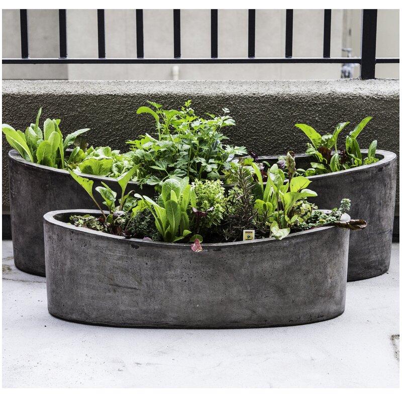 My Spirit Garden Yano 2 Piece Composite Pot Planter Set