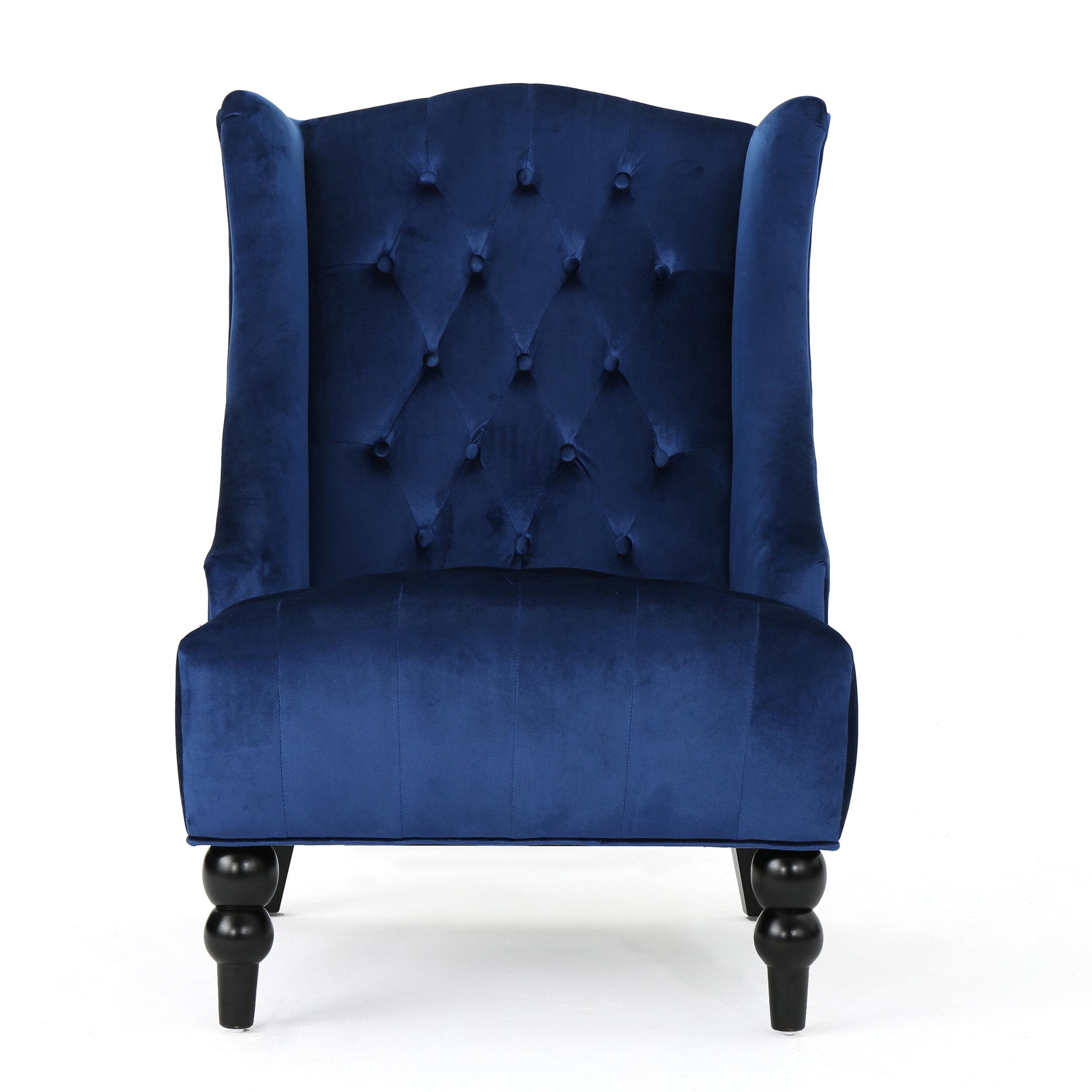 Alcott Hill Potterslane High Back New Velvet Wingback Chair U0026 Reviews |  Wayfair