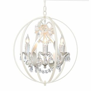 Glass orb chandelier wayfair hackford floral orb 4 light mini chandelier aloadofball Image collections