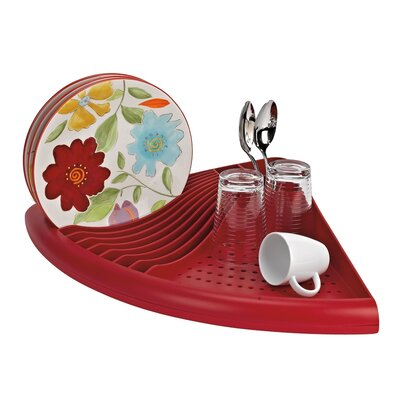 3-in-1 Space Saving Corner Dish Drainer Better Houseware Color: Red