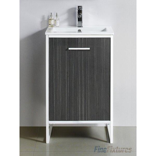 "Wrought Studio Bourgoin 20"" Single Bathroom Vanity Set & Reviews | Wayfair"