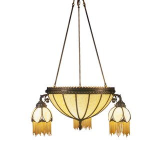 Gothic chandelier wayfair gothic 6 light shaded chandelier aloadofball Gallery