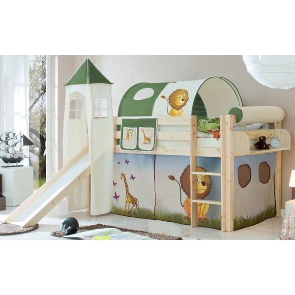 ticaa halbhochbett mit rutsche turm matratze und textilset 90 x 200 cm bewertungen. Black Bedroom Furniture Sets. Home Design Ideas