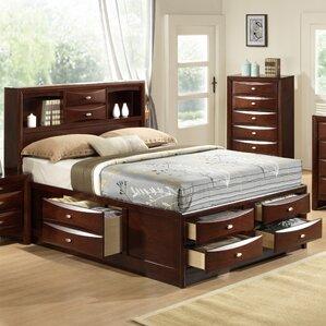 linda storage platform bed - Bed Frame With Storage Drawers