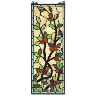 Morris Trellis Stained Glass Window Panel