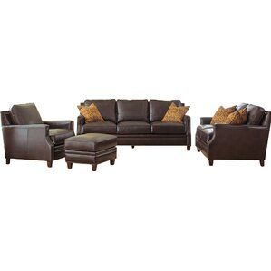 Gravely Leather Loveseat by Darby Home Co