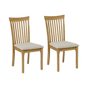 Yvonne Oak Upholstered Dining Chair (Set Of 2)