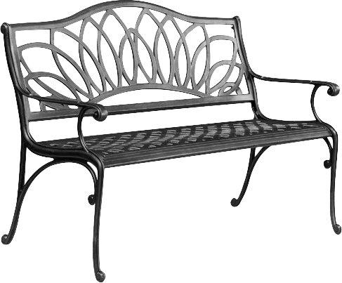 Home Loft Concepts Ramsey Spiral Cast Aluminum Outdoor Bench U0026 Reviews    Wayfair
