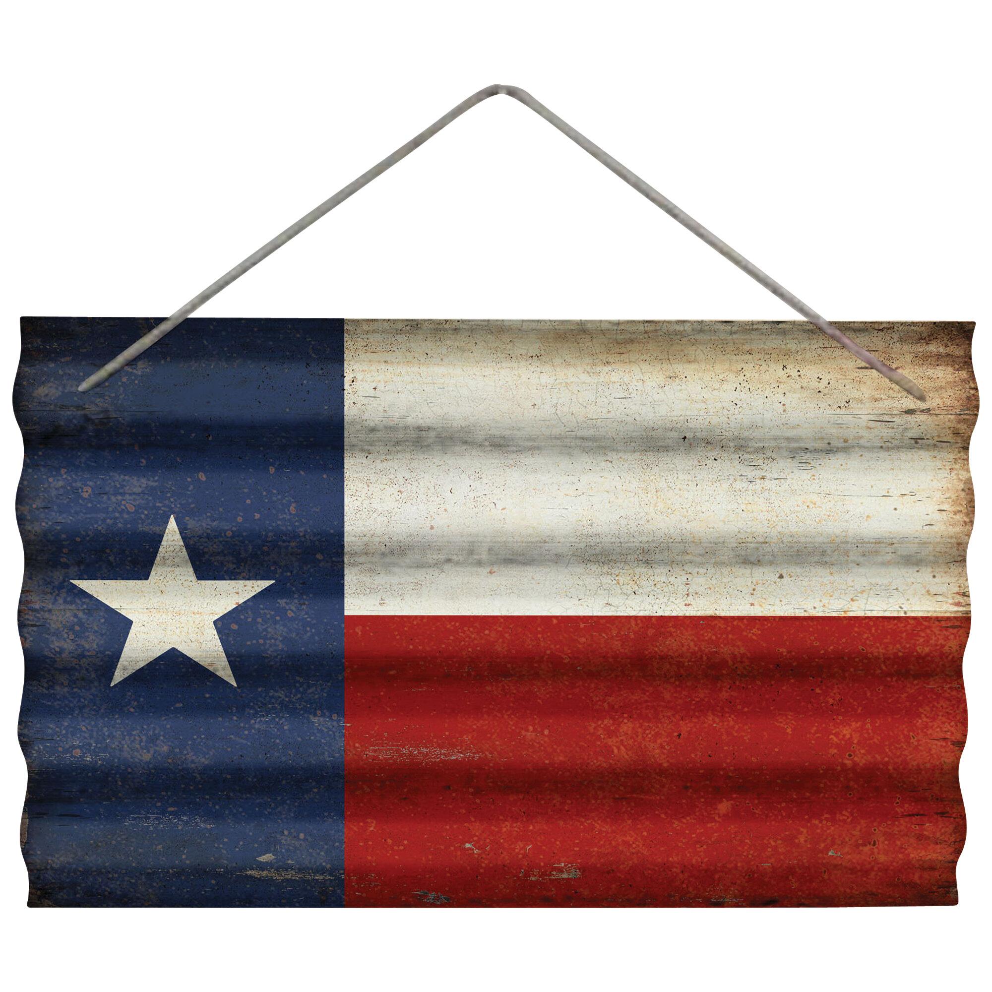 Wilco Home Texas Flag Corrugated Wall D 233 Cor Wayfair