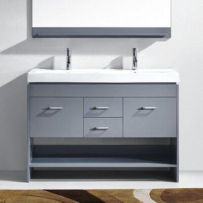 Brayden Studio Frausto 48 Double Bathroom Vanity Base Only Finish: Gray