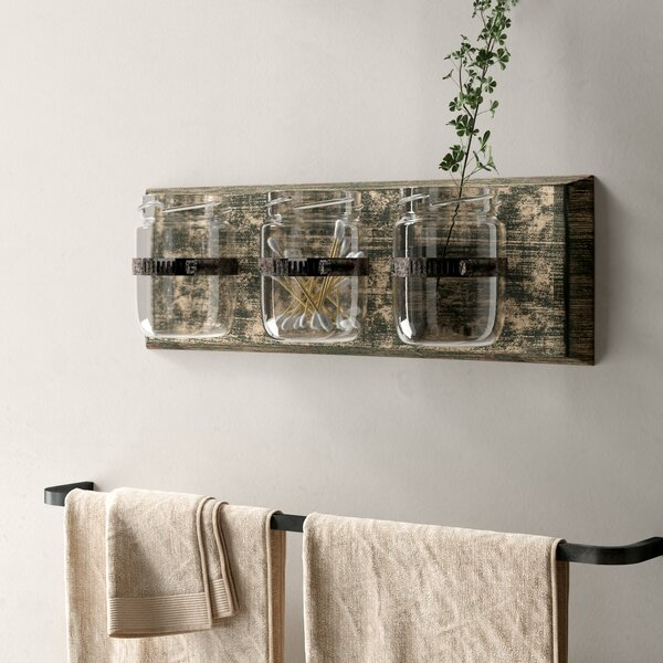 Wayfair All Modern: Laurel Foundry Modern Farmhouse Three Glass Holder Wall