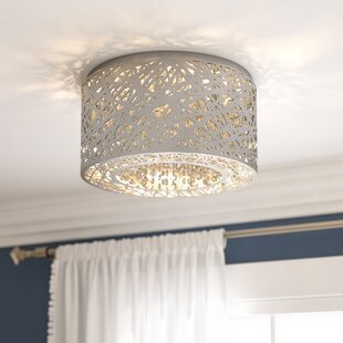 Flush mount lighting youll love wayfair save aloadofball Gallery