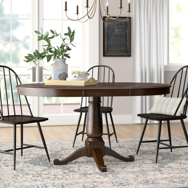Darby Home Co Kiantone Extendable Solid Wood Dining Table Reviews Wayfair