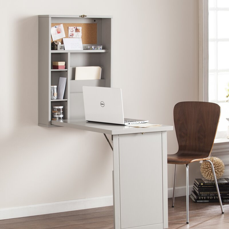 Fold Out Convertible Wall Mount Floating Desk