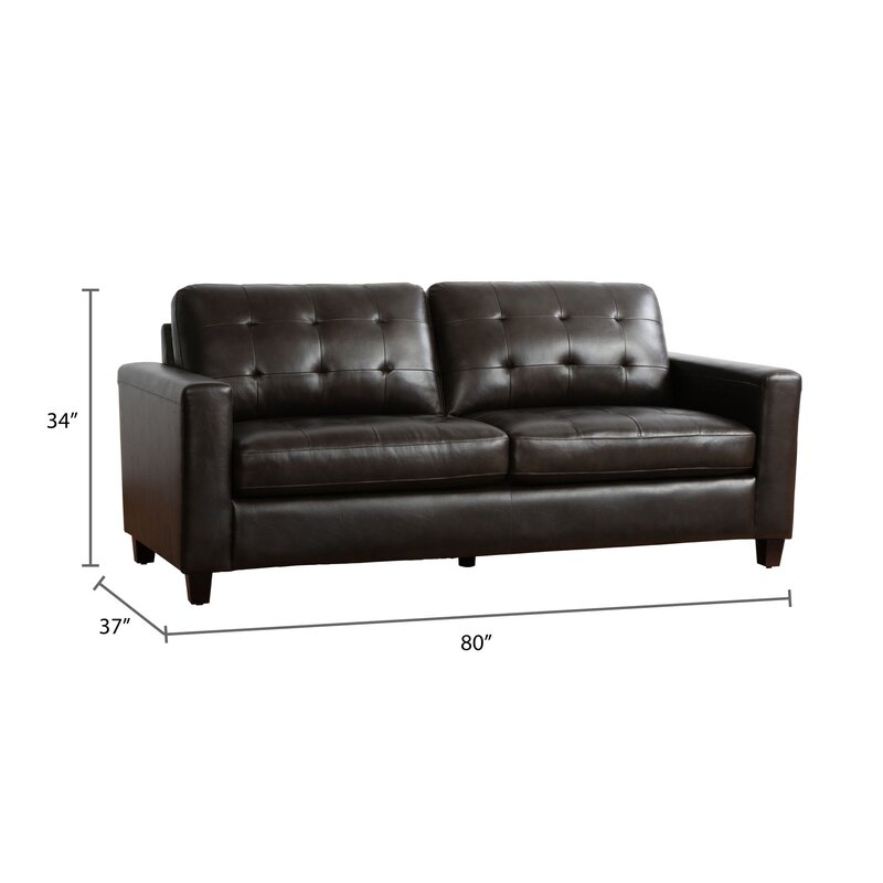 Dion Genuine Leather Sofa | Joss & Main