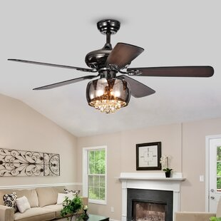 Hampton bay ceiling fan wayfair 52 lakey 5 blade ceiling fan with remote mozeypictures Gallery