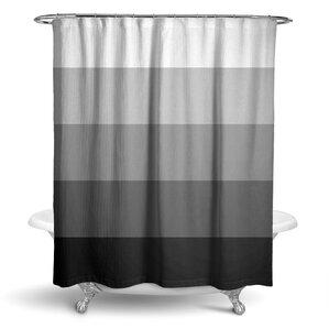 black white striped shower curtain. Rajkumar Ombre Stripe Shower Curtain Modern Striped Curtains  AllModern