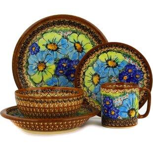Polish Pottery 5 Piece Place Setting Service for 1  sc 1 st  Wayfair & Polish Pottery Dinnerware | Wayfair