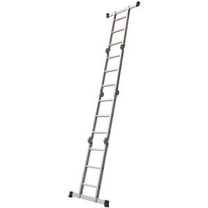 Atrox 3 ft Aluminium Step Ladder with 350 lbs Load Capacity