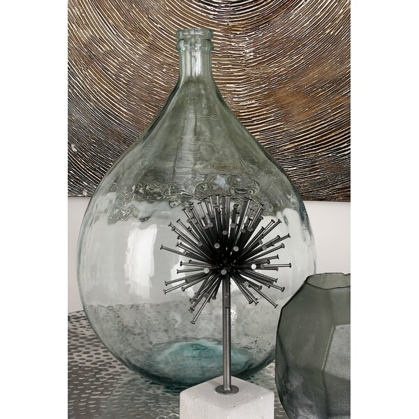 Laurel Foundry Modern Farmhouse Clear Glass Decorative Floor Vase - Clear floor vase with flowers