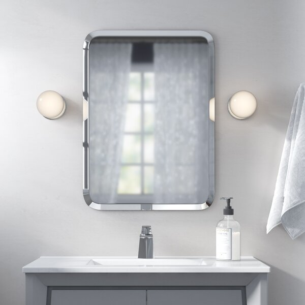 A Plus Thing Of Frameless Mirror Oblong Mirrors | Wayfair