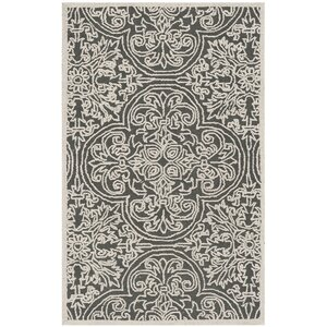 Marys Hand Tufted Wool Dark Gray Area Rug