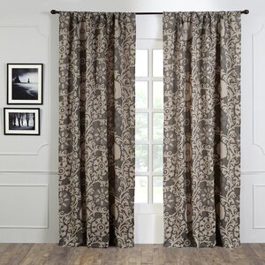 Maryvaile Floral Semi-Sheer Single Curtain Panel